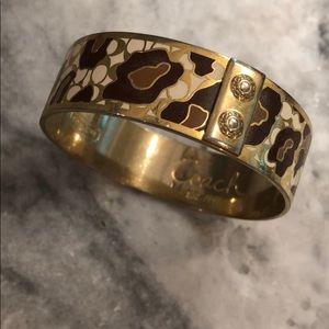 Coach bracelet - leopard print